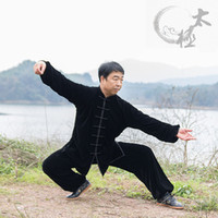 art stages - Healthy Polyester Tai chi Clothing Velvet Coat with Pants Traditional Tai Chi Training And Stage Dance Suits
