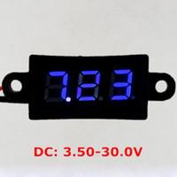 Wholesale Dust Waterproof DC V Mini Digital LED Voltmeter Volt Meter For Car Moto Red Blue Led Display