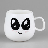 white ceramic mug - Cute Vintage Emotional Mug Coffee Milk Tea Drink Ceramic Mug Cup Lover Kid Gift