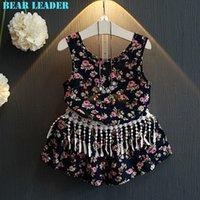 beautiful broken - Girls Dresses Clothing Sets Fashion Summer Style Grils Clothes Broken Beautiful TasselsT shirt Shorts Kids Clothing Set