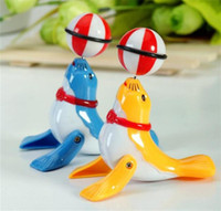 Wholesale Top Chain Toys Clockwork Dolphin Toys with a ball Walking Dolphin Toy Wind Up Plastic Toys Kids Wind up Toys