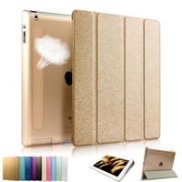 Air en cuir libre France-IPad2 Housse en cuir Flip pour iPad Air 2 3 4 Ultra-mince universelle colorée avec support DHL Livraison gratuite