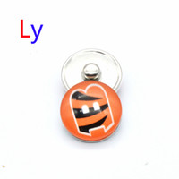 bengal red - NOOSA super bowl Cincinnati snap button interchangeable Bengal tiger snap bracelets jewelry snap ginger button Chunks Clasps Snap YD0027