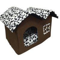 Wholesale Indoor Dog House Double Room Dog Kennel Pet Puppy Cat Bed House Winter Warm ZDY491 beds usa