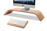 Wholesale 2016 DHL Free Ship New Real Bamboo Stand Dock Holder Bracket for iMac Original SAMDI Holder for Apple Desktop PC Monitor