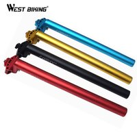 Wholesale 2015 New Version mm Bicycle Seatpost Mountain Bicycle Seat Tube For MTB Fixed Gear Cycling Seatpost Black blue red gold