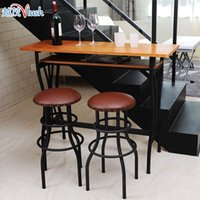 american leather furniture - Mao wrought iron bar chairs the American Bar furniture round chair highchair leather stool
