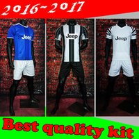 Wholesale best quality Adult Kits home and away Soccer Jersey HIGUAIN Pogba DYBALA PJANIC MARCHISIO Jersey