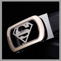Wholesale New Designer Belts Men High Quality Men s Belts Luxury Superman Automatic Buckle Leather Belts For Men Cinturones Hombre