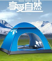 Wholesale Outdoor Double Layer Person Tent Waterproof Aluminum Pole Ultralight Shelters Family Camping Hiking Party Large Tents