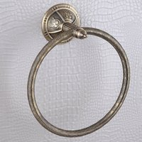 antique bronze towel ring - Luxry Bronze Towel Rings with Stainless Steel And Copper Wall Mounted Antique Towel Ring Holder