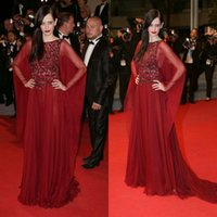 bead forming - Elie Saab Beaded Dress The th Cannes Film Festival Celebrity Evening Dresses Glitter Beads Long Sleeve Burgundy Tulle Celebrity Form Gowns