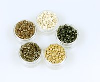Wholesale Factory direct sell more colors Optional Silicone Micro Ring Beads For Hair
