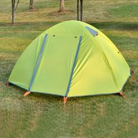 Wholesale Ultra light Windproof Family Camping Tents Best Cheap Double Layer Door Night Fishing Picnic Hiking Tents for Camping