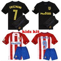 Wholesale new Top Thai Best quality Jersey Short sleeve kids suit Red black custom shirt de foot