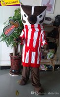 badger picture - ohlees actual picture Bucky Badger Mascot costumes character for Halloween party activity Fancy christmas adult size