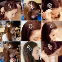 Wholesale 2016 Rushed Wedding Han Edition Set Auger Head Hair Lace Top Clip To Diamond Hairpins Crown Duckbill Hairpin Bang Is Small Adorn Article