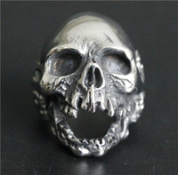 Wholesale Popular Ring L Stainless Steel Jewelry Ring Cool Mens Biker Ghost Walking Skull Ring Death Skull Ring