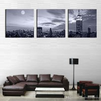 art home furniture - 3 Panel Wall Art Painting Nice Night Scene Prints On Canvas City The Picture Decor Oil For Home Modern Decoration Print For Furniture