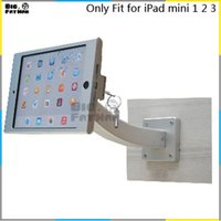 aluminum wall display case - Fit for iPad mini1 wall mount aluminum metal case bracket Security display kiosk POS table lock holder for tablet