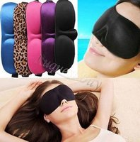 3d holiday gifts - Newest D Soft Aid Sleep Masks Padded Shade Cover Rest Travel kits Relax Sleeping Blindfold eye mask colorful holiday gift drop shipping