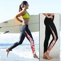 Wholesale Women Running Tights Woman Run Pants Print Running Leggings Print Girls Lycra Pants for Running Yoga Swimming Diving marathon