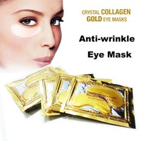 Wholesale High Quality Gold Crystal Collagen Eye Bag Mask Dark Circle Anti Puffiness Anti Aging Gold Powder Eye Mask
