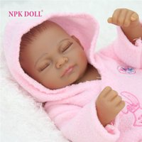 Wholesale 10 inches African American Baby Doll Black Girl Realistic Life Like Reborn Newborn Babies Silicone Full Body Dolls