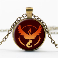 animal camp games - Poke GO Team Valor Instinct Mystic Logo Necklaces poke camp design Necklaces Antique Bronze Gemstone sweater chain Jewelry game fans gift