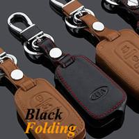 accessories for auto kia - Auto parts2014 KIA Sportage Car Keychain Genuine Leather Key Fob Case Cover for Sportage Key Chain Car Accessories