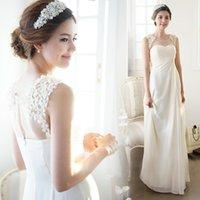 beautiful heart pictures - A line beautiful Sexy Luxcy Modern Simple Floor length Sleeveless Zipper Blackless Sweet heart Wedding Dresses Events