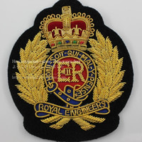 Wholesale Spot European Royal British traditional crafts handmade embroidery ER queen Elizabeth CM