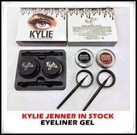 cream eye liner - In stock Kylie Jenner Eyeliner Gel Waterproof Makeup Eye Liner Gel Cosmetics Make Up Black Brown Colors