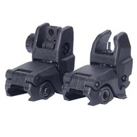 Sight accessories airsoft - 2016 Real Airsoftsports Gun Ipsc Airsoftsports Back up Sight Gen Front And Rear Folding Sights for Airsoft Accessories Bk De