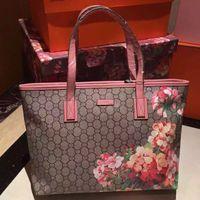 Wholesale Sakura color printing bag shopping bag the original leather production leather handbags leather bag