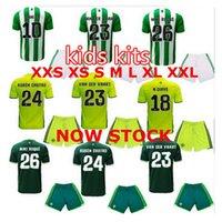Wholesale Real Betis Kids Jerseys child teens Shirt JOAQUIN VAN DER VAART RUBEN CASTRO Wholesalers football shirt