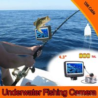 Wholesale 4 quot Digital Color LCD Monitor Video LED TVL HD Underwater Fishing Camera Fishfinder M Cable Fish Finder