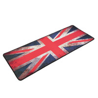 Wholesale UK Flag Rubber XL Ultra Large Size Anti Slip Mouse Mats for PC Computer Laptop Notbook Gaming Mouse Pad Gaming Mat Red