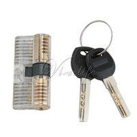Wholesale Transparent Padlock Pins Cylinder Lock Door Security Lock Training Tools Locksmith Tools Key Anti theft Door Lock Security