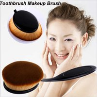 air brush cosmetics - New Big Oval Toothbrush Style Makeup Brushes Foundation Makeup Air Brush Loose Powder Synthetic Hair Brush Cosmetic Makeup Tool