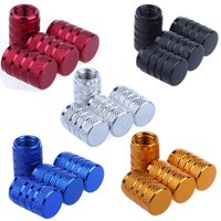 Wholesale 4Pcs Universal Aluminum Car Truck Motocycle Bike Tyre American Air Valve Caps Tire Valve Cap Car Wheel Styling Airtight