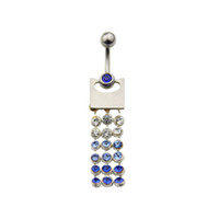 Girls' belly button piercing price - Crystal Tassel Belly Button Ring Dangle Navel Bar Piercing fashion new women sexy body pricing jewelry silver percing ombligo