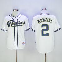base coffee - 2016 Johnny Manziel San Diego Padres Jersey MLB Baseball Jerseys Cool Base Coffee Grey