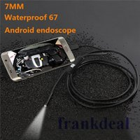 Wholesale 6 LED HD P mm lens Android endoscope M M Length Micro USB waterproof endoscope Camera Snake Tube Inspection Camera