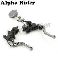 Wholesale 7 quot MM CNC Clutch Levers Motorcycle Brake Pump Master Cylinder Reservoir for Aprilia Atlantic Dorsoduro Mana Mojito Pegaso