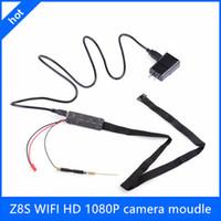 Wholesale Z8S Mini FULL HD P Spy HD Hidden Camera DIY Module Mini Wifi P2P IP Wireless Spy Surveillance Camera For Android iPhone PC