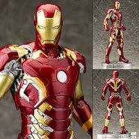 Wholesale 2016 NEW CM The Avengers Iron Man Mark VII MK42 Figma Boxed PVC Action Figure Collectible Model Toy superhero toys marvel toys gohan
