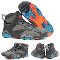 barcelona sales - with shoes Box Hot Sale Retro VII Barcelona Days Bobcats Olympic Men Basketball Sports airs Kids shoes