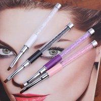 Wholesale 2016 Nail Art Care Tools Crystal Gel Pen Brush Handle Nail Art Tool Pen Anti slip Handle Soft Hair