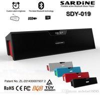 SDY-019 SDY019 Mini Protable haut-parleur Bluetooth avec écran Hi-Fi stéréo Sardine Radio FM sans fil amplificateur USB stéréo Sound Box Best Sound